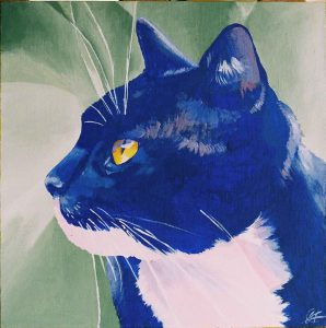 Acrylic blue cat