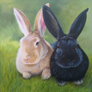 bunnies in acrylic